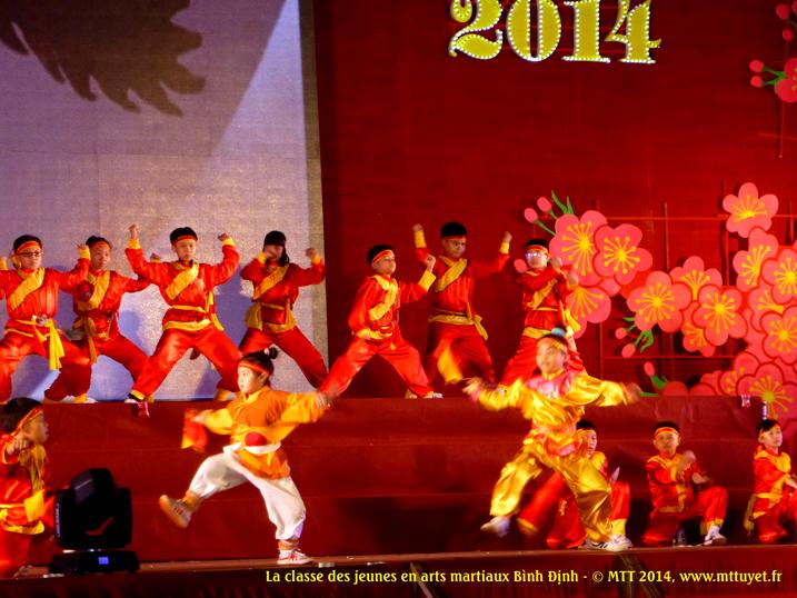 Võ thuật Bình Định biểu diễn bởi lớp thiếu niên – L'art du combat s'apprend très tôt ! Photo: MTT 2014