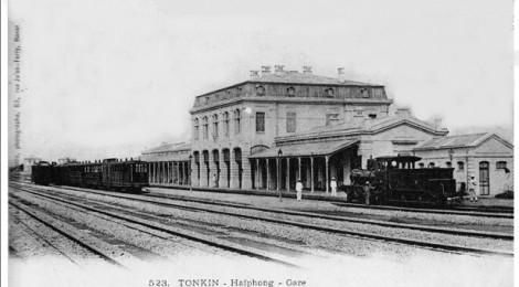 Nhà ga Hải Phòng thời thuộc Pháp (carte postale)