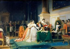 800px-Le_divorce_de_l'Impératrice_Joséphine_15_décembre_1809_(Henri-Frederic_Schopin)